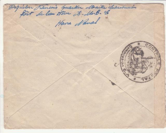 Lettre du Fort de la Hève oblitérée Poste Navale en février 1940. _5000510