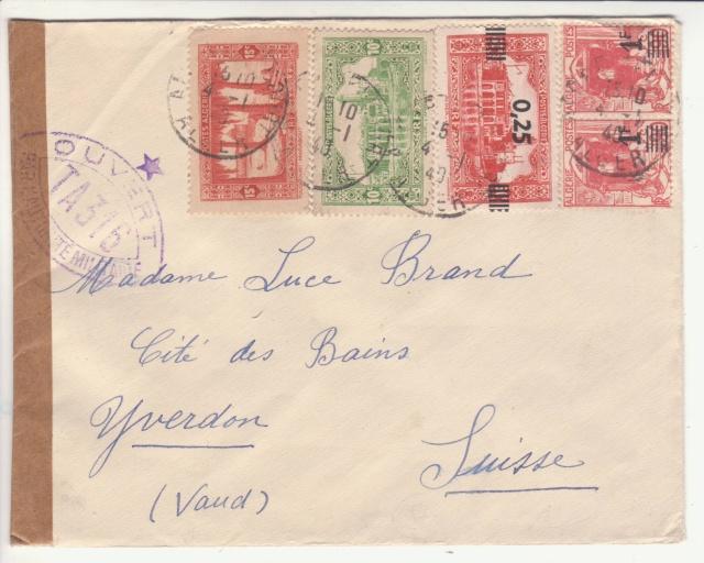 """Cachet """" étoile """" sur courrier de et vers l'Algérie en 1939-40.  _5_00010"""