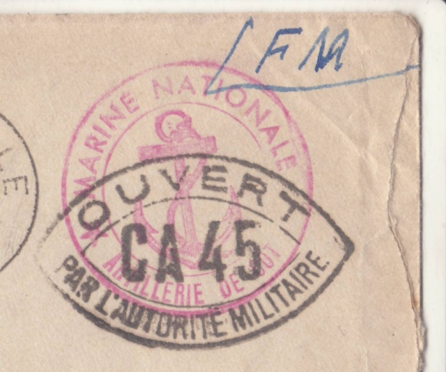 Lettre du Fort de la Hève oblitérée Poste Navale en février 1940. _6000510