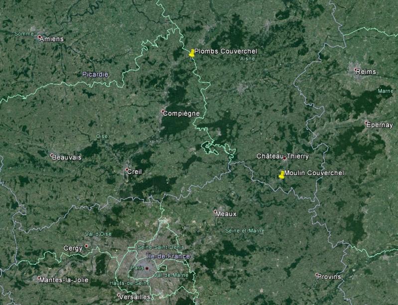 Dt 02: Aisne Moulin de Nogent l'Artaud Couverchel Carte_10