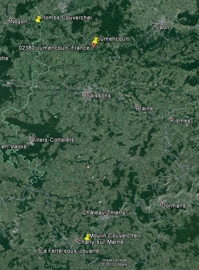 Dt 02: Aisne Moulin de Nogent l'Artaud Couverchel Carte_11