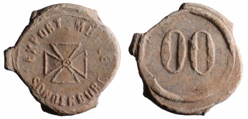 Plomb de scellé avec croix à ID D248810