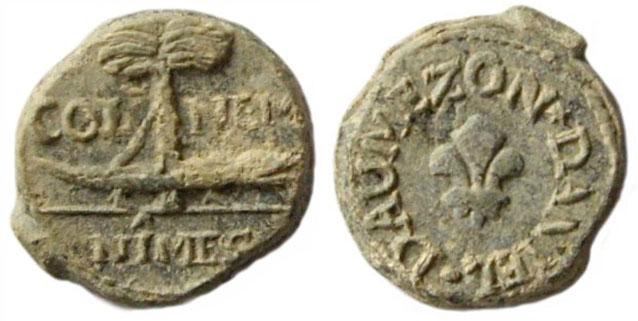 Les plombs de soyeux de Nîmes. For15611