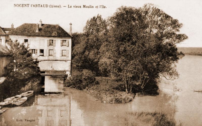 Dt 02: Aisne Moulin de Nogent l'Artaud Couverchel Moulin10