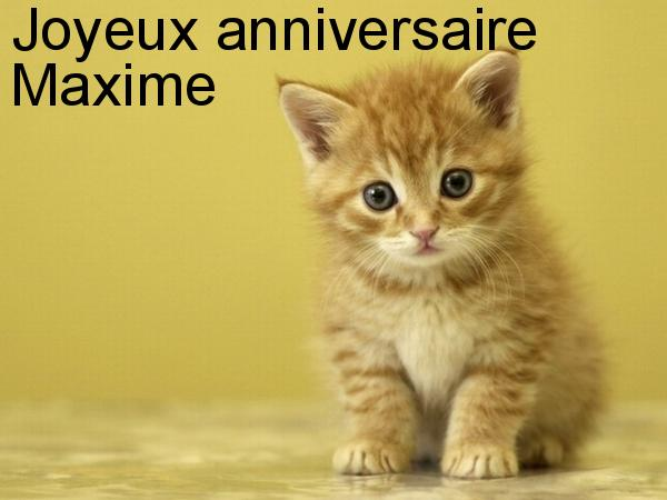 Maxime Anniversaires A Souhaiter Nimo