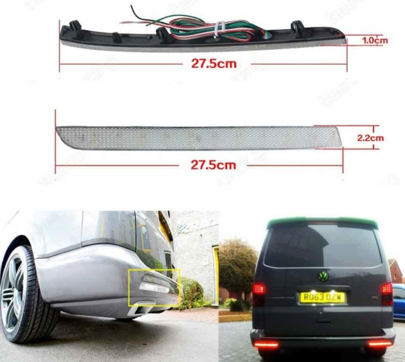 refleteur arriere LED pour t5-2 Sans-t10