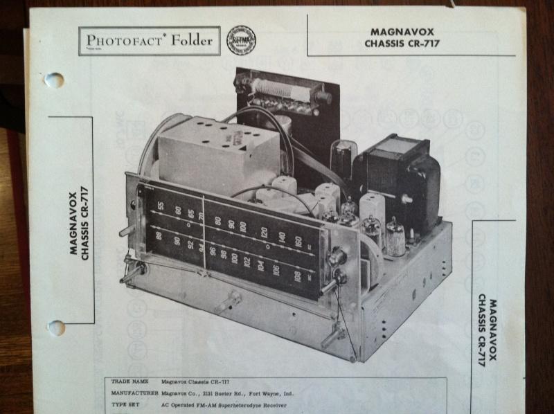 Magnavox Console/CR-717 Transformer. Sams10