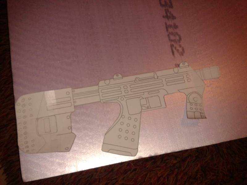 """Maquette """"SMG Halo 3 & ODST"""" 2013-010"""