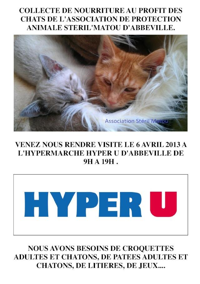 Collecte de nourriture, Hyper U d'Abbeville, le 6 avril 2013 :) Affich10