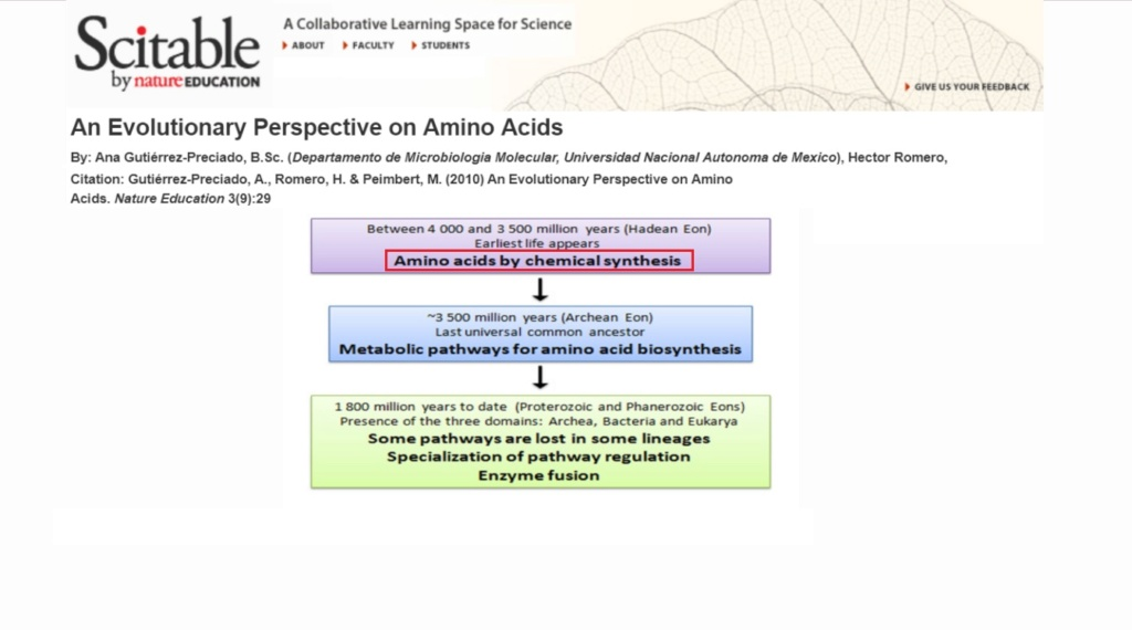 Chemical evolution of amino acids and proteins ? Impossible !! 423