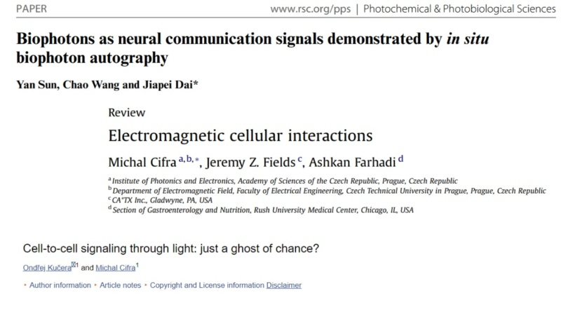 Awe-inspiring biophoton cell-cell communication points to design  5617