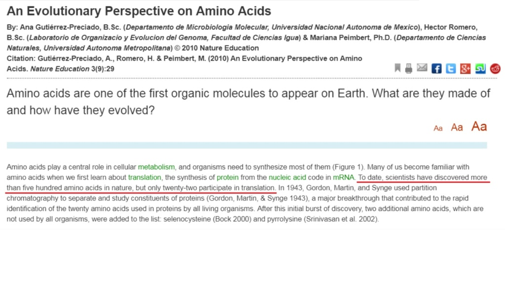 Chemical evolution of amino acids and proteins ? Impossible !! 622