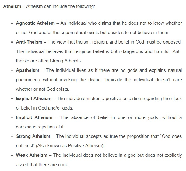 Atheism: How to define it Atheis10