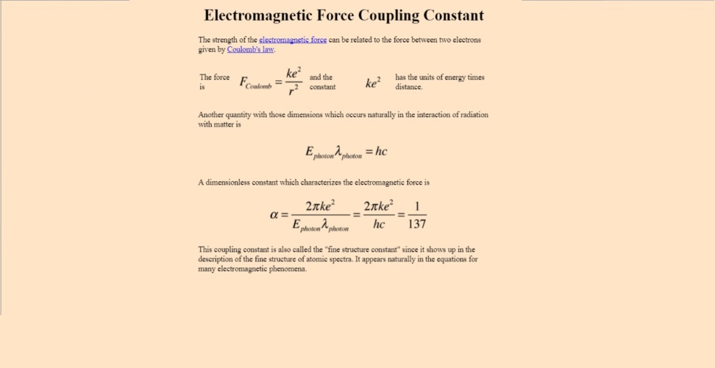 Finetuning of the electromagnetic forces Force_10