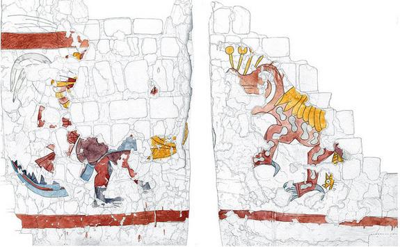Un bouclier à plumes rituel trouvé dans un temple au Pérou Images10