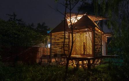 Cette maison faite de bambou, résiste aux inondations Maison10