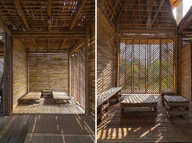Cette maison faite de bambou, résiste aux inondations Maison12