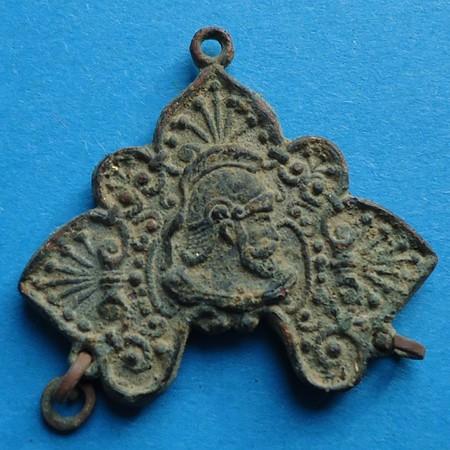 Objet fantaisie (ressemblant à 1 élément de chapelet / tête de soldat romain) - non religieux - fin XIX/XXème Gd001110