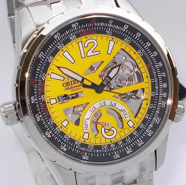 montre a fond jaune Cft00010
