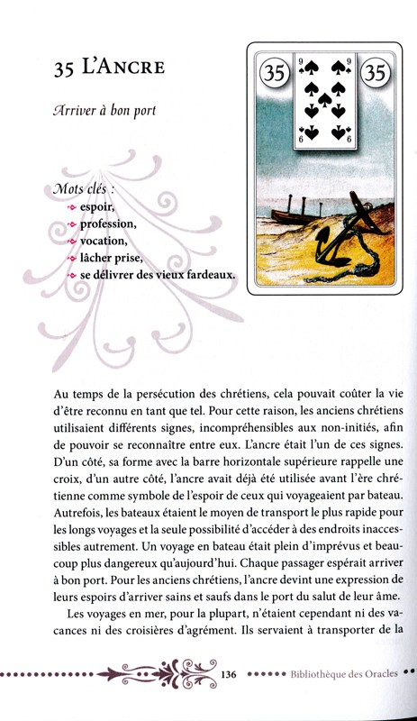 Coffret Le Tarot Lenormand ► Katrin Rosali Giza Ancre_10
