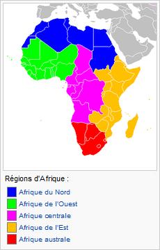 Organisation des zones géographiques de l'Afrique Afriqu10
