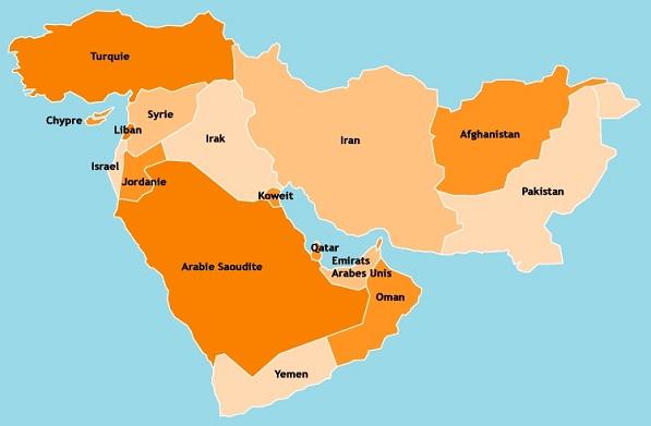 Composition du Moyen-Orient Moyen-10