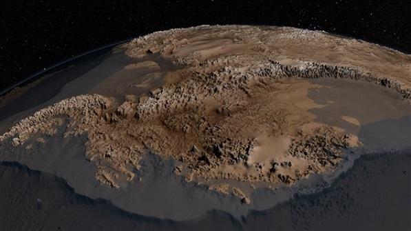 Le socle rocheux de l'Antarctique Nuanta10