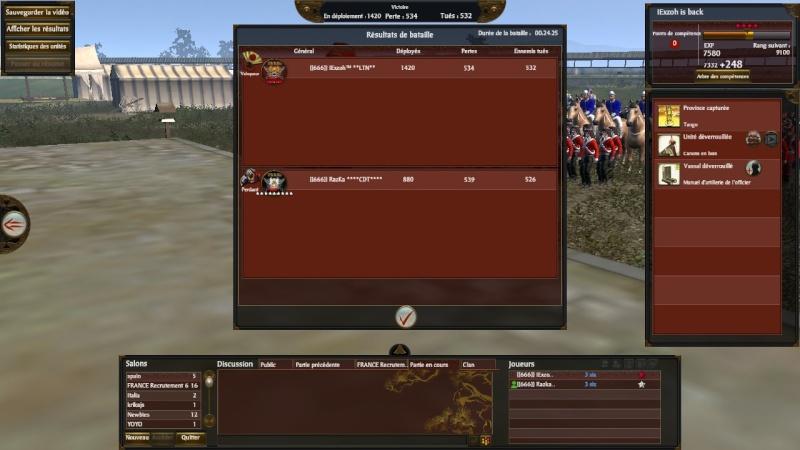 Screen du tournoi shogun 666_co14