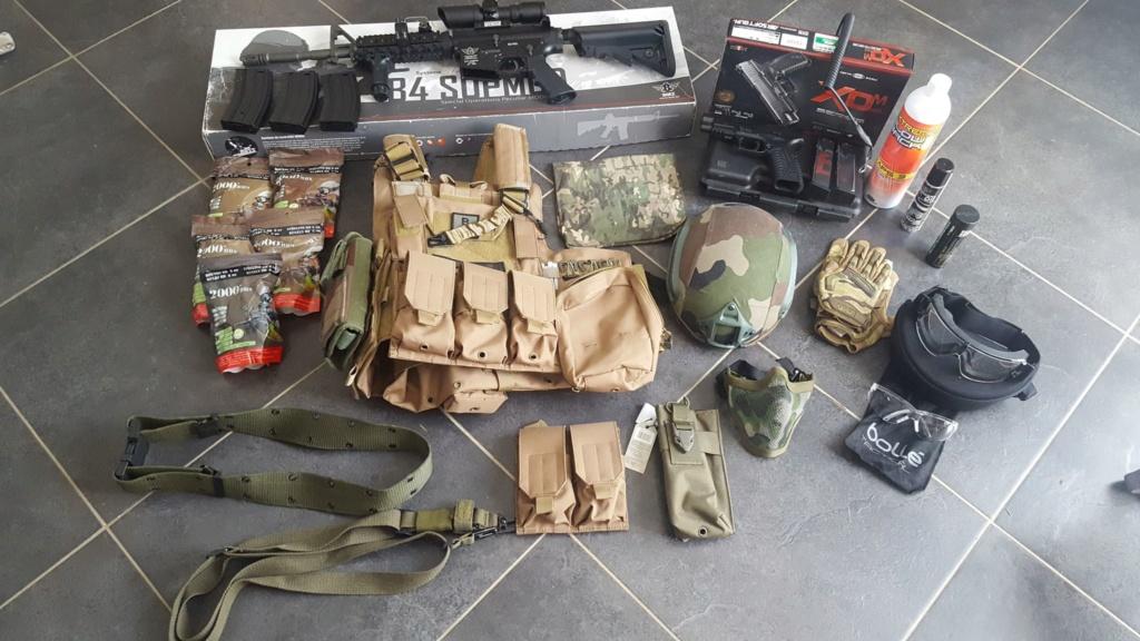 M4 Bolt , PA XDM 40 Marui et equipements 41529110