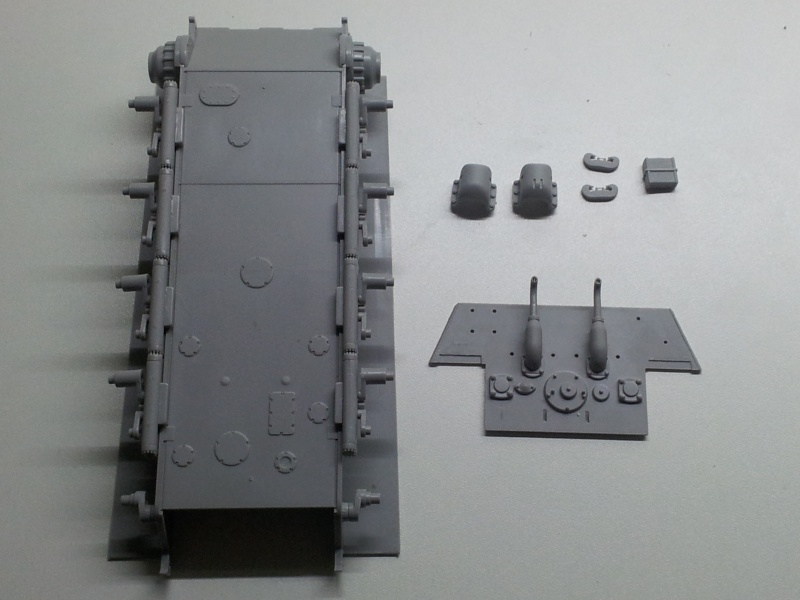 E-75 Flakpanzer [TRUMPETER] PE [VOYAGER MODEL] Canons [RB MODEL] Chenilles [FRIUL]  (Montage en cours) 20130911