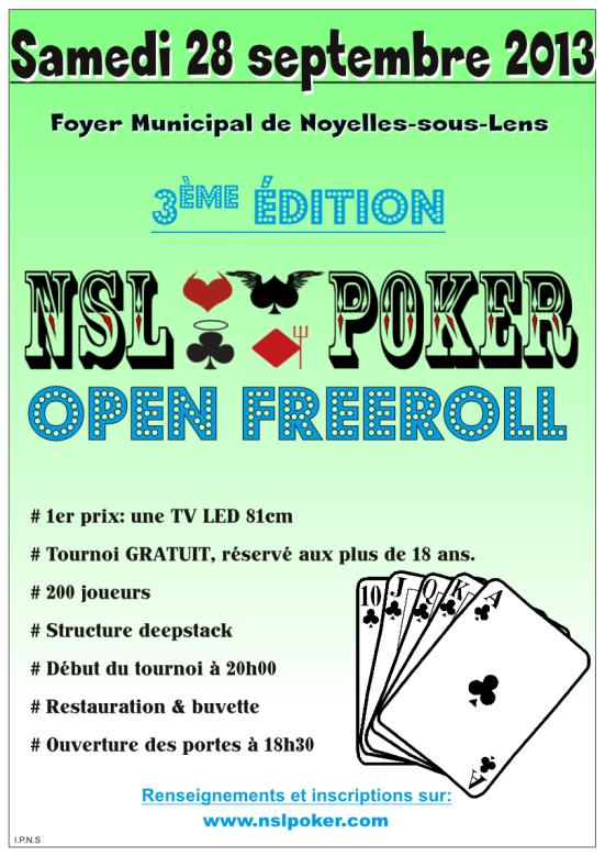 Freeroll NSL Poker - 200 joueurs - samedi 28/09/2013 Tourno10