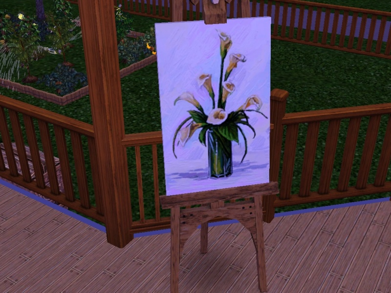 Brush Strokes - What's your Sim Painting? Flower10