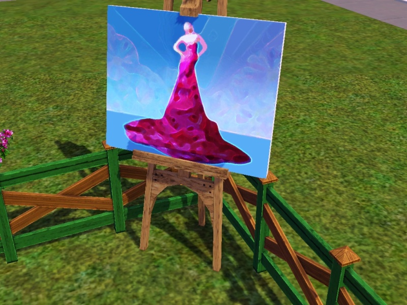 Brush Strokes - What's your Sim Painting? Red_ca10