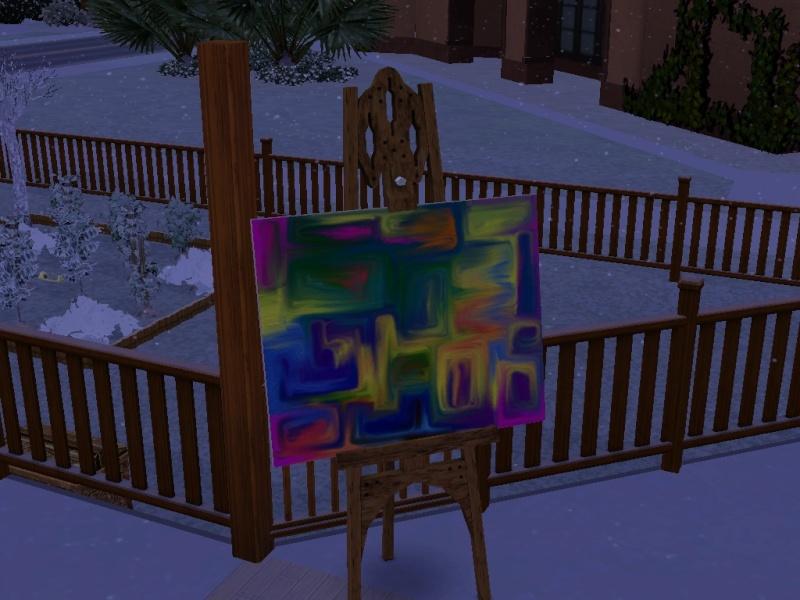Brush Strokes - What's your Sim Painting? Skittl10