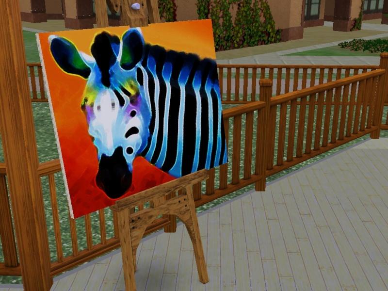 Brush Strokes - What's your Sim Painting? Zebra10