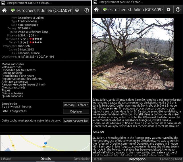[APPLICATION ANDROID - C:GEO : Geocaching] Participez à une chasse au trésor mondiale [Gratuit] 01110