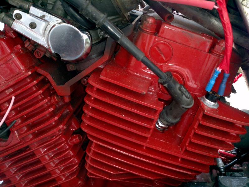 Refroidissement électrique cylindre arrière et de l'huile. 2013-012