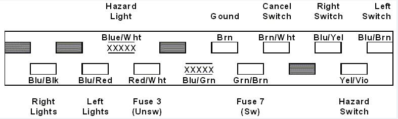 Hazard warning switch : light bulb Bmu_fl10