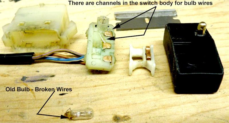 Hazard warning switch : light bulb Sam_3010