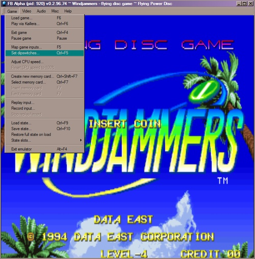 [ESP] Configurar Windjammers Dipswi11