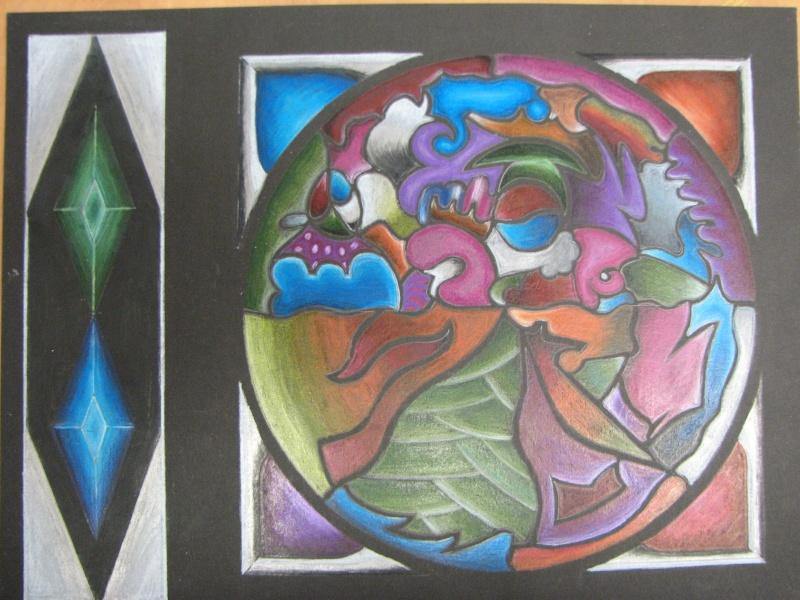 Mandala au crayon de bois (secondaire) 05610