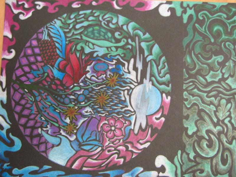 Mandala au crayon de bois (secondaire) 05910