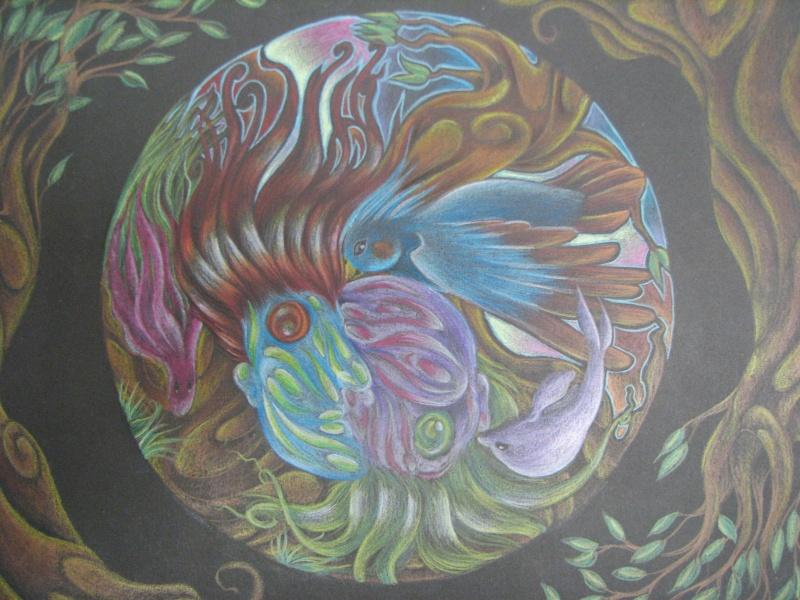 Mandala au crayon de bois (secondaire) 06010