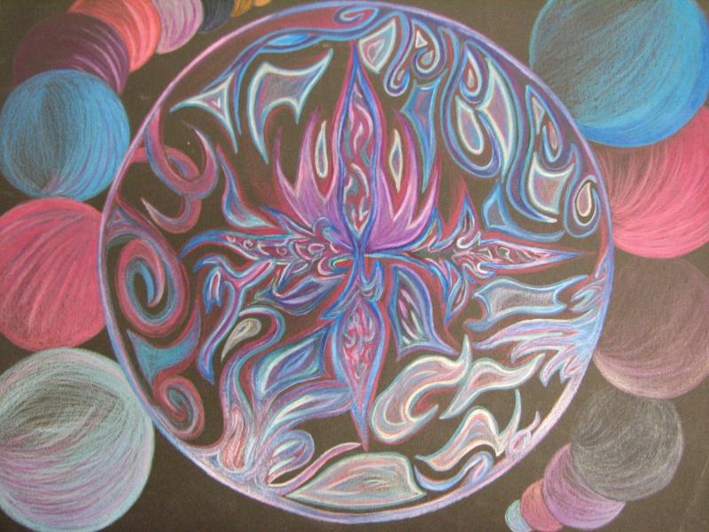 Mandala au crayon de bois (secondaire) 06310
