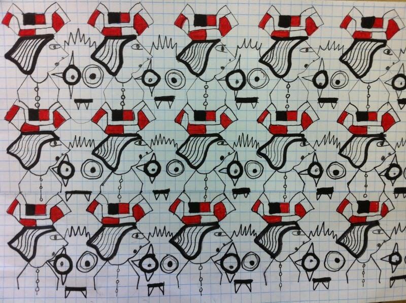 Dallage à la manière de Escher (primaire et secondaire) 6iem_a10