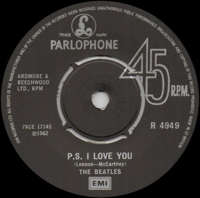 Love Me Do/P.S. I Love You R4949-13