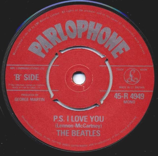 Love Me Do/P.S. I Love You R4949-17