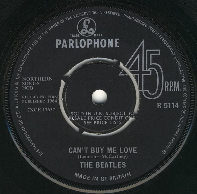 Can't Buy Me Love/You Can't Do That R5114-10