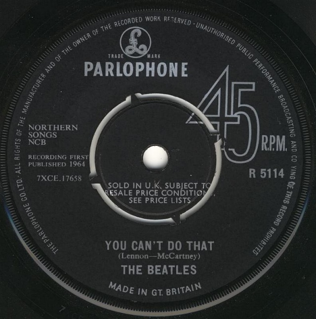 Can't Buy Me Love/You Can't Do That R5114-11