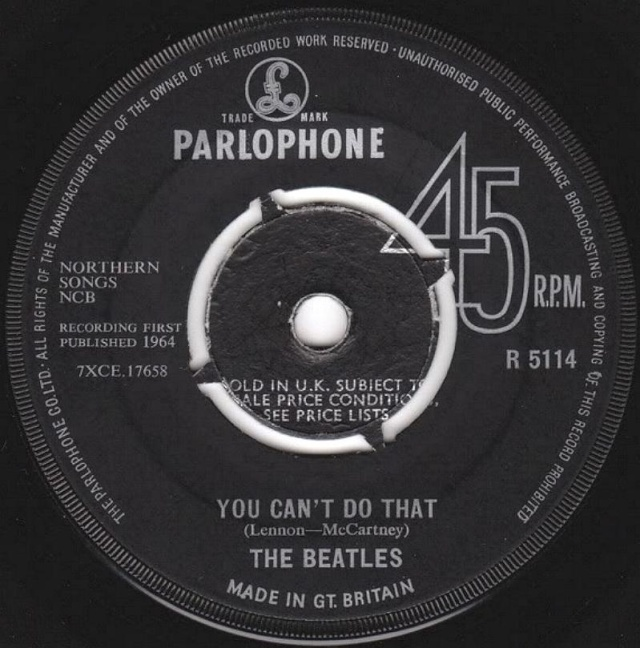 Can't Buy Me Love/You Can't Do That R5114-13